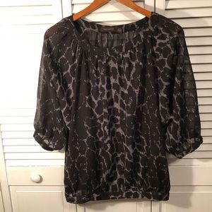 The Limited 3/4 length sleeve sheer blousy top